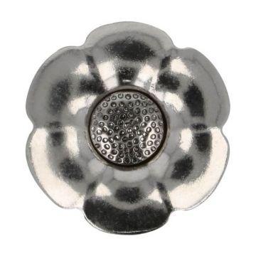 Knoop Bloem Verwisselbaar Hart - Silver - 25mm