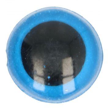 Veiligheidsogen Blauw - 22mm