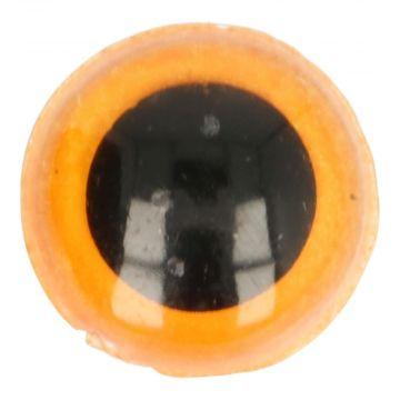Veiligheidsogen Oranje - 12mm