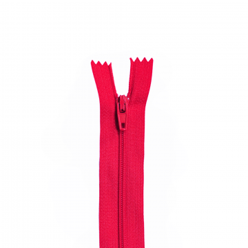Nylon Rits - Niet Deelbaar - 60cm -5 - Coral/Fuchsia