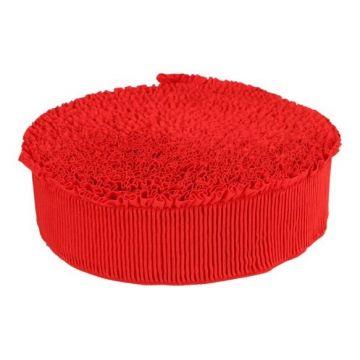 Blousonelastiek met ruche - rood