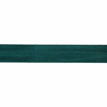 Vouwtres donker petroleum 20mm elastisch biaisband