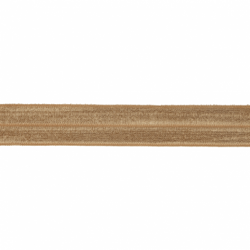 Elastisch biaisband vouwtres 20mm cappuccino