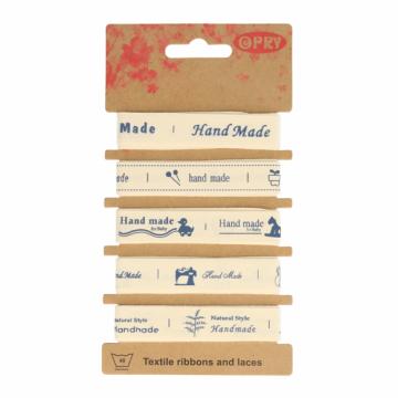 Opry Lint Labels - Handmade Naturel/ Blauw