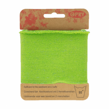 Manchetten Band - Lurex Lime