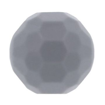 Opry Siliconen Kraal Diamant 16mm - Grijs