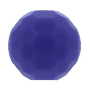 Opry Siliconen Kraal Diamant 16mm - Blauw/Paars