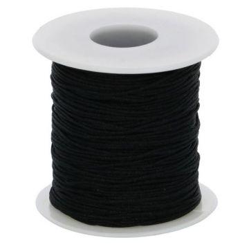 Glanskoord/ Speenkoord 1mm - Zwart