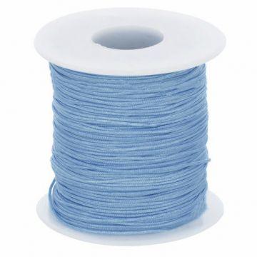 Glanskoord/ Speenkoord 1mm - Hemels Blauw