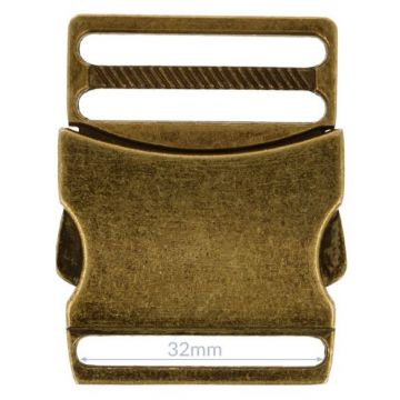 Opry Klikgesp - Old Gold - 32mm