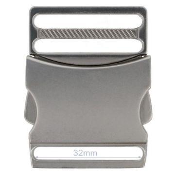 Opry Klikgesp - Mat Silver - 32mm