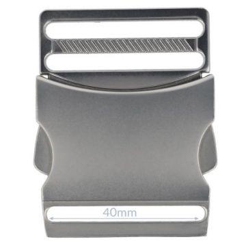 Opry Klikgesp - Mat Silver - 40mm