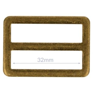 Opry Gesp Plat - Old Gold - 32mm