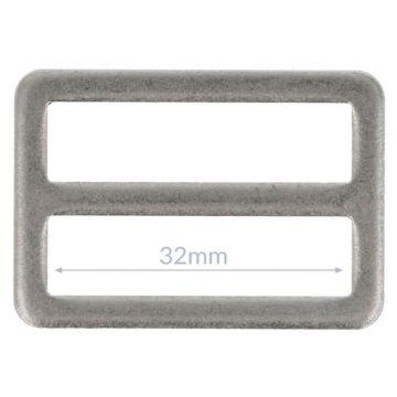 Opry Gesp Plat - Mat Silver - 32mm