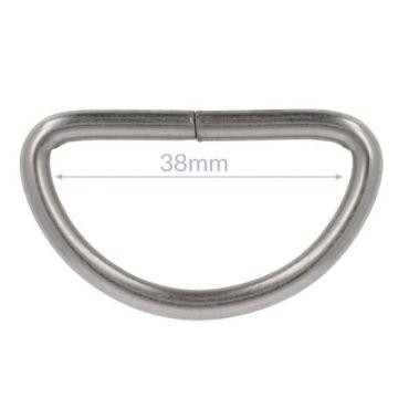 Opry D-Ring - Mat Nikkel - 38mm