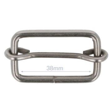 Opry Gesp met Schuif - Mat Silver - 38 mm