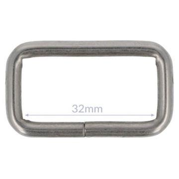 Opry Gesp - Mat Silver - 32mm