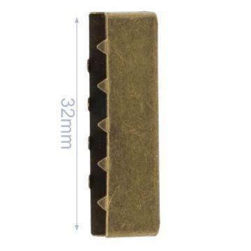 Eindstuk Tassenband-Old Gold-32mm