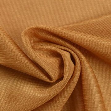 Charmeuse Tricot Voering Goud Bruin