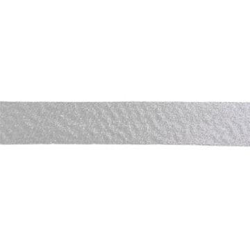 Biaisband Lamé - Zilver
