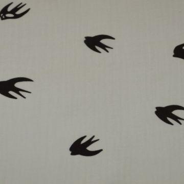Hydrofiel Doek vogels wit