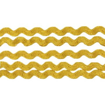 Zigzagband 6mm goud