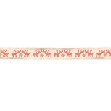 Rendier Lint 15mm - Rood