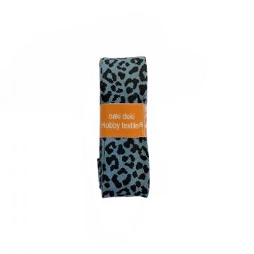 Oaki Doki Biaisband Summer Collection - Leopard Steelblue - 2m