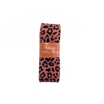 Oaki Doki Biaisband Summer Collection - Leopard Warm Coral - 2m