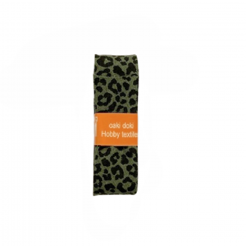 Oaki Doki Biaisband Summer Collection -Leopard Forest Green - 2m