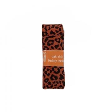 Oaki Doki Biaisband Summer Collection - Leopard Rusty Red - 2m