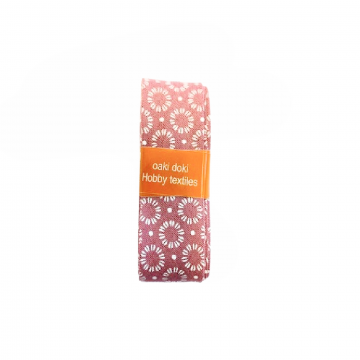 Oaki Doki Biaisband Summer Collection - Cirkel Warm Pink - 2m