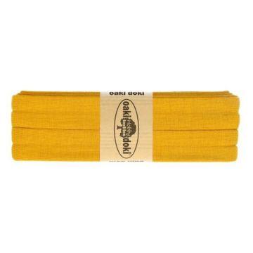 Tricot de luxe biaisband oaki doki 950 Mosterd