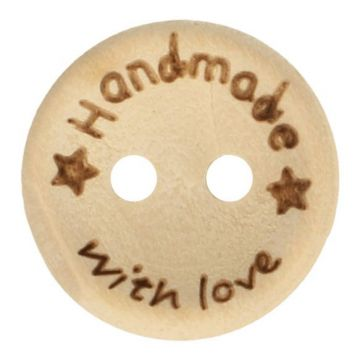 Knoop Hout 20mm  - Handmade With Love
