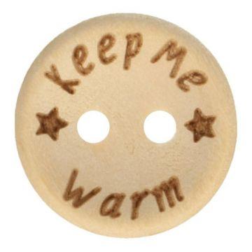 Knoop Hout 20mm  - Keep Me Warm