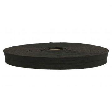Zwarte Knoopsgatenelastiek 25mm