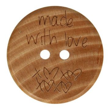 Knoop Hout 20mm  - Made With Love