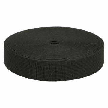 Zacht Elastiek Zwart - 40mm