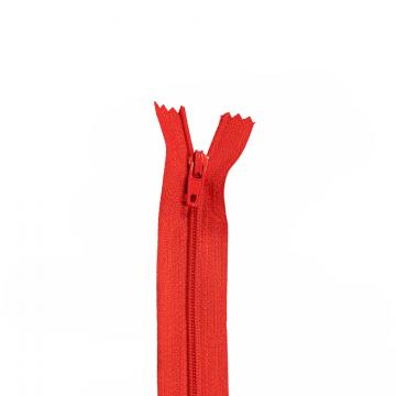 Nylon Rits - Niet Deelbaar - 60cm -9 - Red
