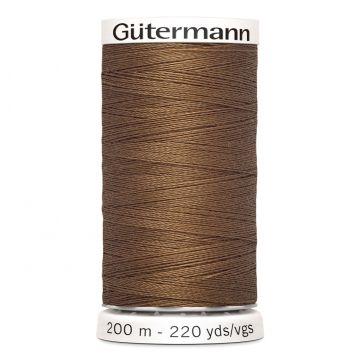 Gütermann 200 meter naaigaren - zacht bruin