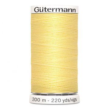 Gütermann 200 meter naaigaren - pastel geel