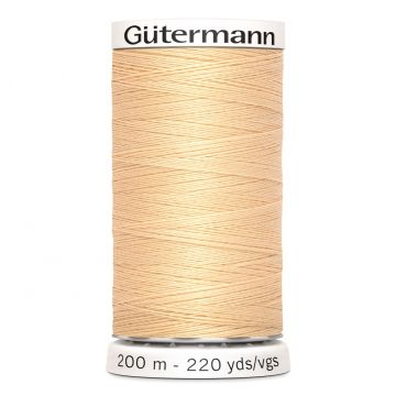 Gütermann 200 meter naaigaren - zacht beige