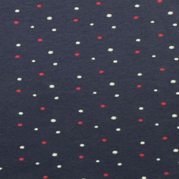Katoenen Tricot - Night Sky Dots