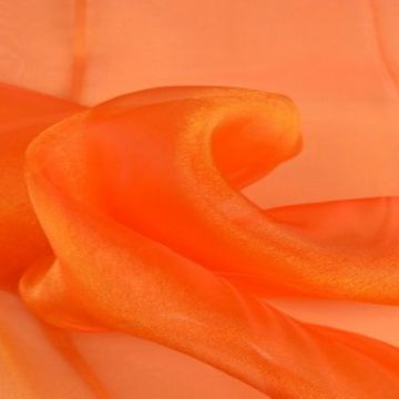 Organza Two Tone- Orange/Gold