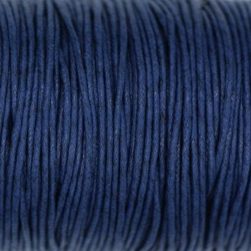 wax koord donker blauw 1 mm