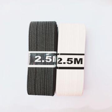 elastiek bundel zwart 25mm