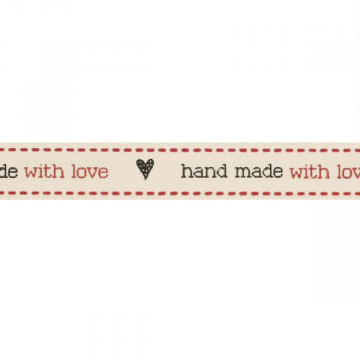 Hand made with love lint 15mm