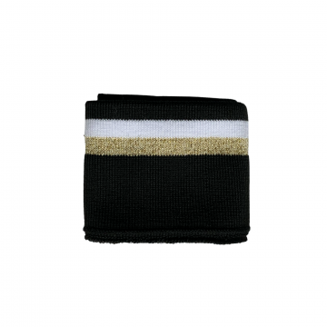 Manchetten Band Shiny Glitter - Big Stripes Gold/White