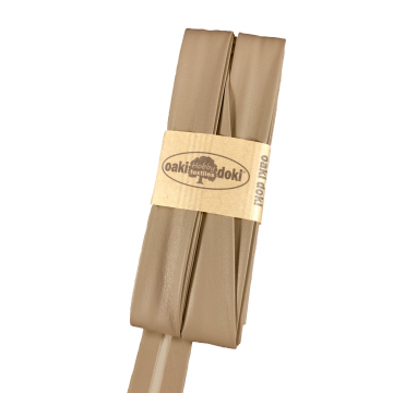 Oaki Doki Biaisband Leer - 055 Donker Taupe