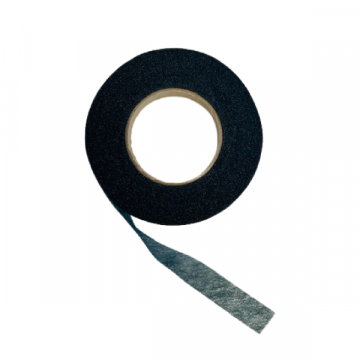 naadband 12 mm zwart vlieseline